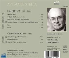 Ave Maris Stella: Gerard Gillen plays the music of Flor Peeters & César Franck
